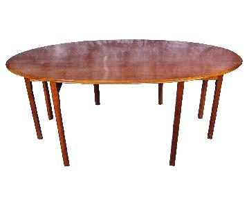 Vintage Wright Cherry Drop Leaf Dining Table