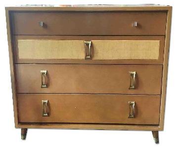 Mid-Century Modern Dresser w/ Brass Hardware