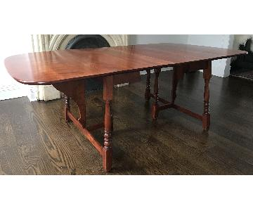Antique Adjustable Cherry Wood Dining Table