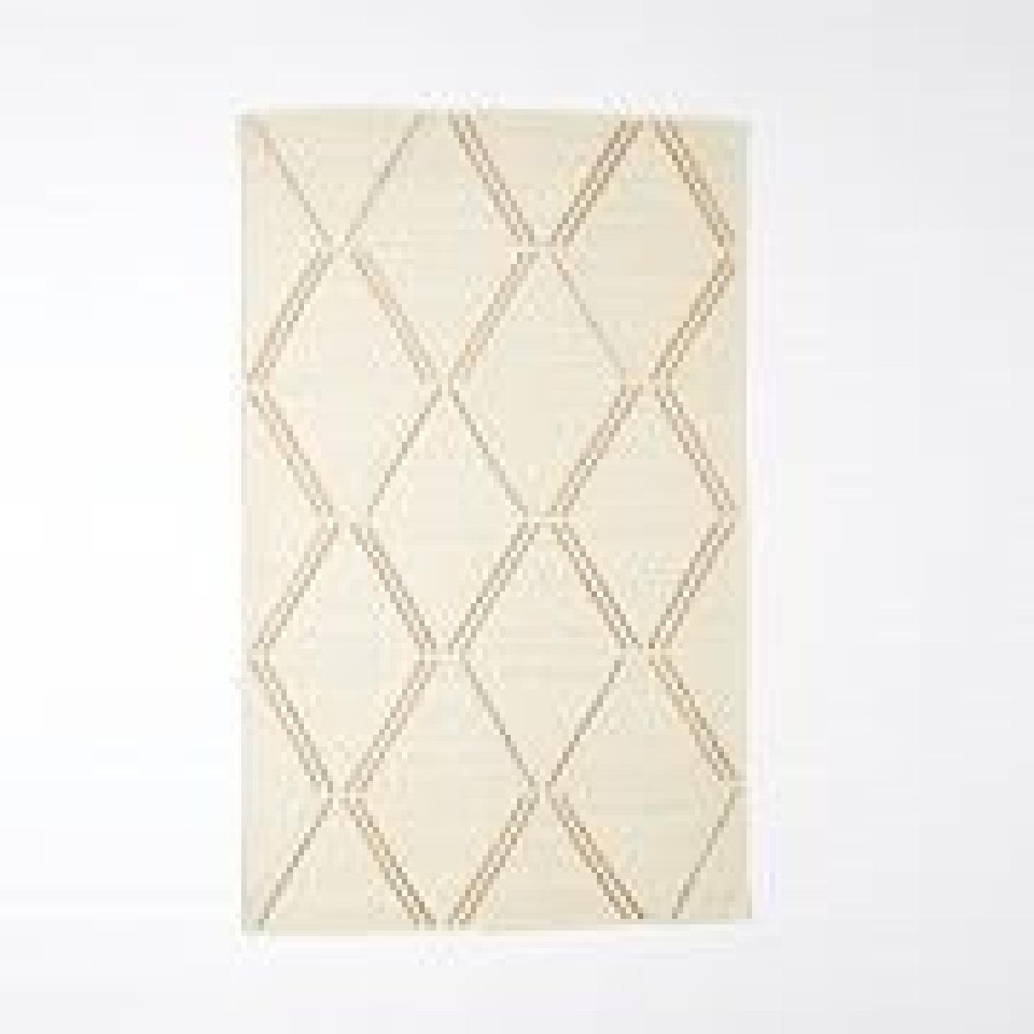 West Elm Affine Metallic Jute Rug in Ivory/Natural