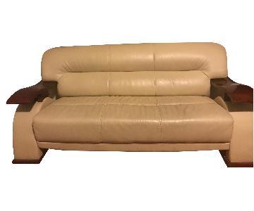 Raymour & Flanigan Metro Leather Sofa