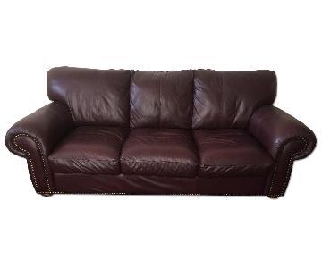 Macy's Leather Sofa