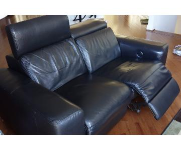 Creative Furniture Leather Loveseat + Chair w/ Power Recliners