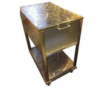 Industrial Style Metal File Cabinet/Cart