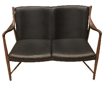 Modway Furniture Leather Loveseat