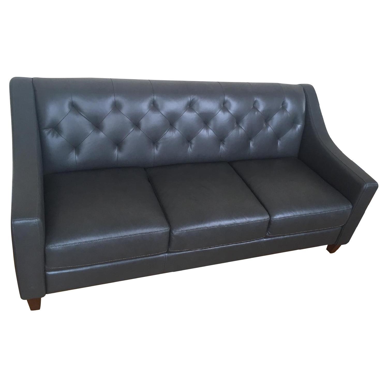 Macy's Claudia II Leather Sofa