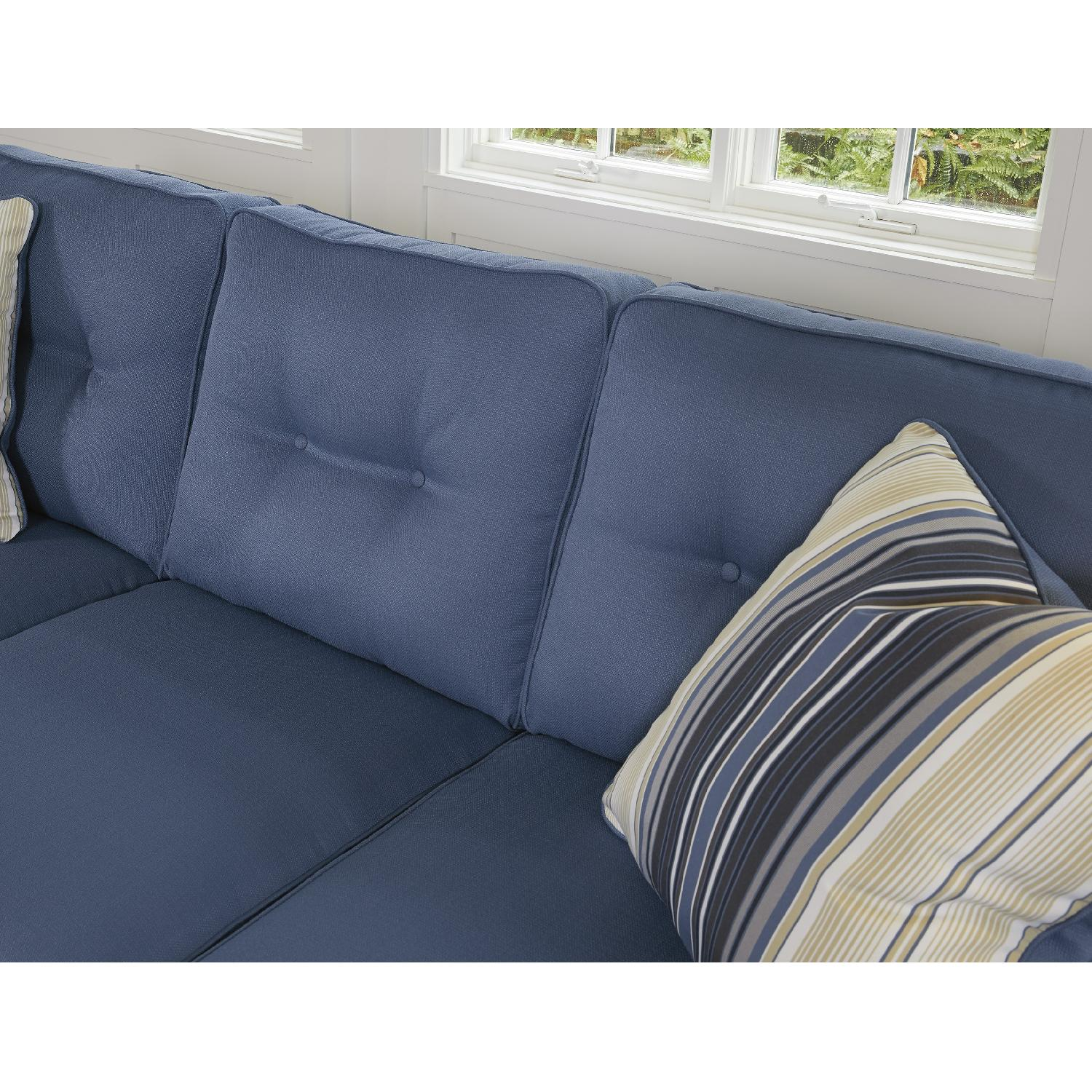 ... Ashleyu0027s Aldie Nuvella Contemporary Sectional Sofa w/ Chaise-3 ...  sc 1 st  AptDeco : blue sectional sofa with chaise - Sectionals, Sofas & Couches