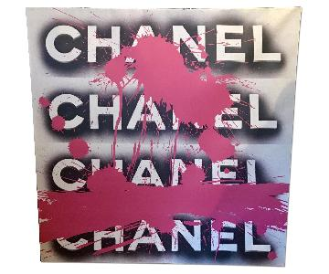 Fluorescent Palace Pink Splatter Paint Chanel Wraparound Can