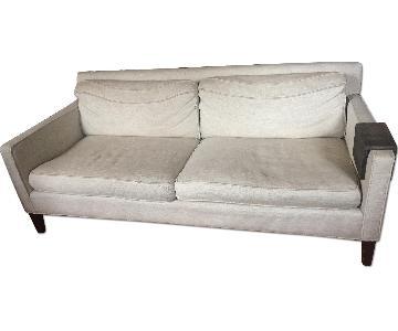 Crate & Barrel Tan Sofa