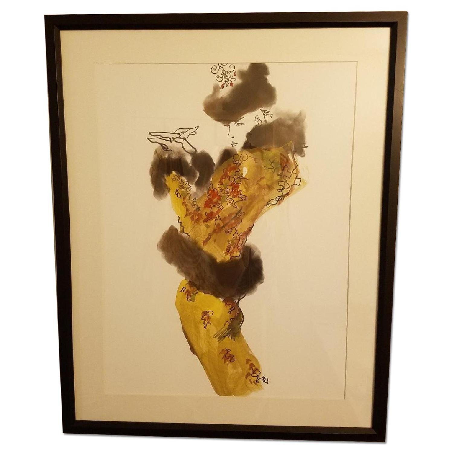 1984 Giclee Framed Print - Chanel Haute Couture by Tony Vira