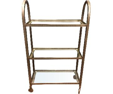 Industrial-Syle Metal/Glass Baker's Rack