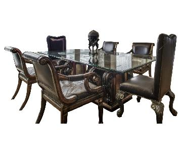 8 Piece Dining Room Set + Area Rug