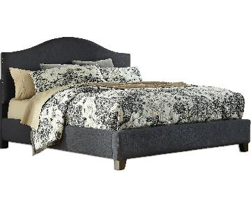 Ashley's Kasidon Contemporary Queen Size Upholstered Platfor