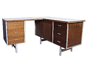 Knoll Mid Century Executive L Shape Desk