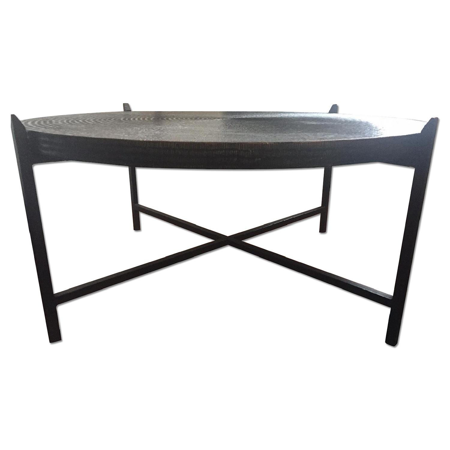 Crate & Barrel Sanskrit Copper Coffee Table