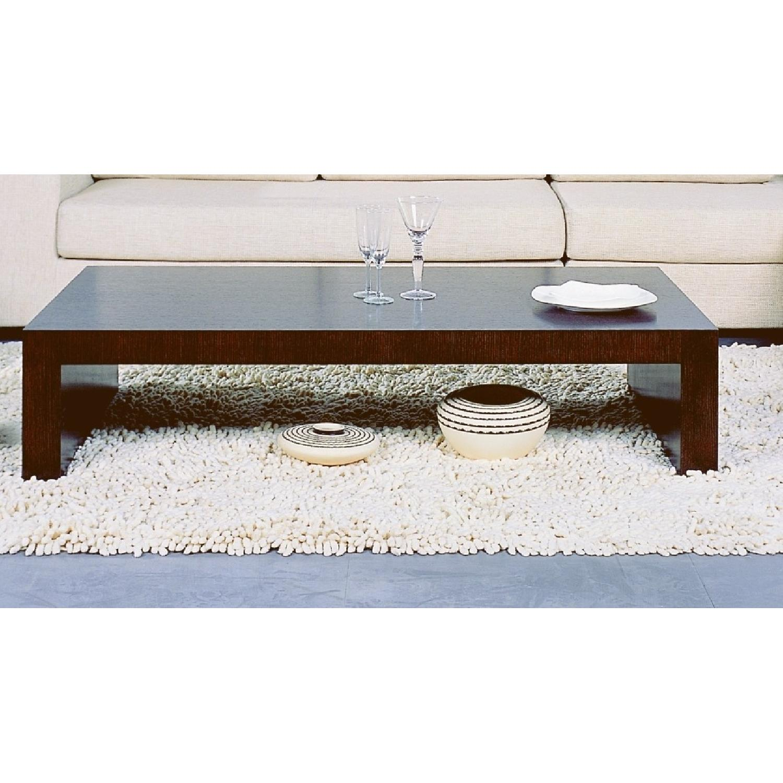 Coffee Table Minimalist Retro: Modern Minimalist Style Coffee Table In Espresso Finish