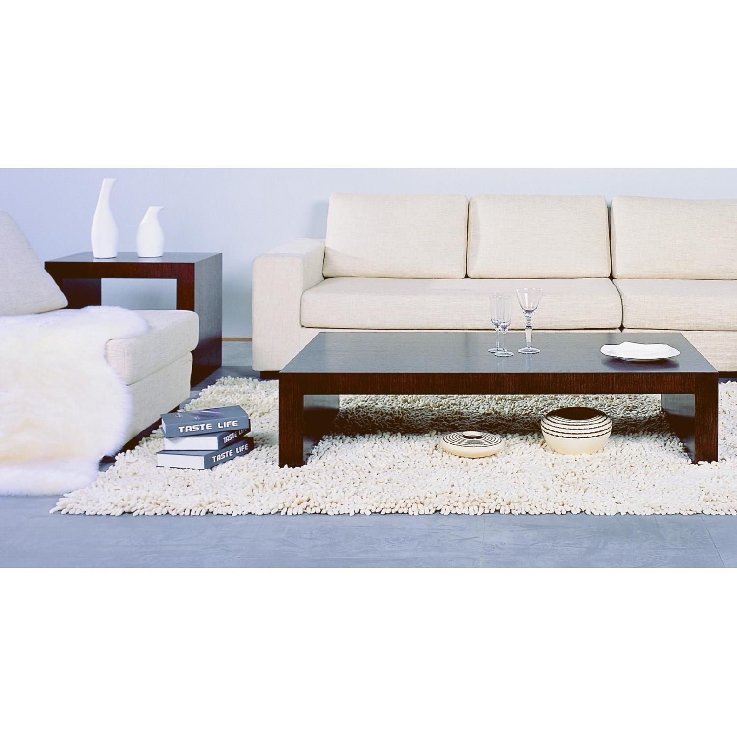 Modern Minimalist Style Coffee Table in Espresso Finish AptDeco