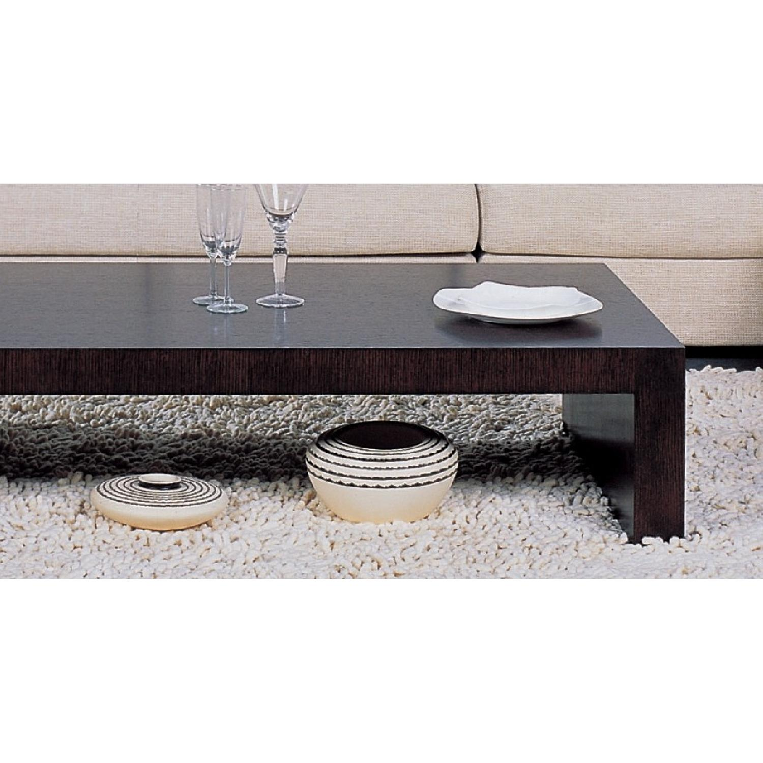 ... Modern Minimalist Style Coffee Table In Espresso Finish 2 ...