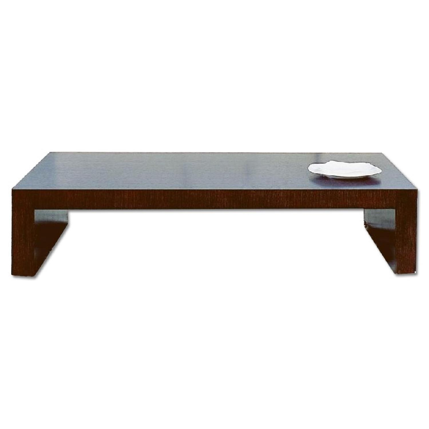 Modern minimalist style coffee table in espresso finish for Modern style coffee tables