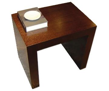 Modern Minimalist Style End Table in Espresso Finish