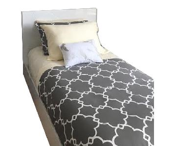 White Laquered Twin Bed Frame
