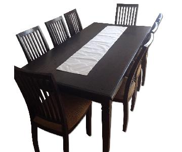 Indonesian Teakwood Dining Table w/ 8 Chairs
