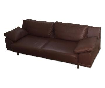 BoConcept Quadro Brown Leather 2 Seater Sofa