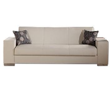 Istikbal Sunset Kobe Escudo Cream 3 Seat Sleeper Sofa
