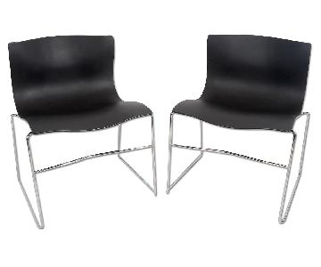 Vignelli for Knoll Mid Century Modern Handkerchief Chairs