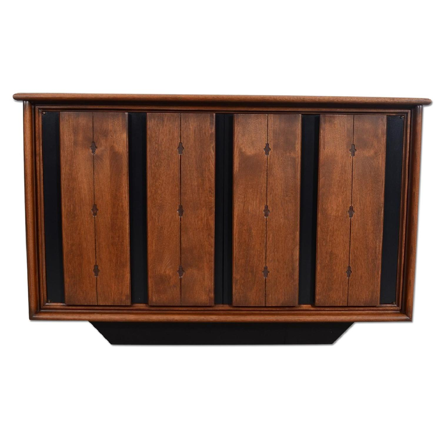 Mid Century Modern Walnut Console/Entertainment Unit