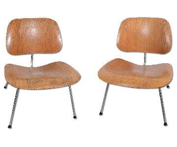 Herman Miller Eames LCM Lounge Chairs in Molded Wood