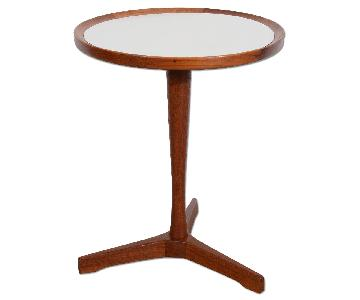 Danish Modern Hans Andersen White Top Teak Side Table