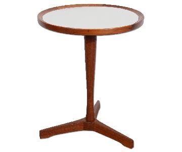 Danish Modern Hans Andersen White Top Teak Side Table