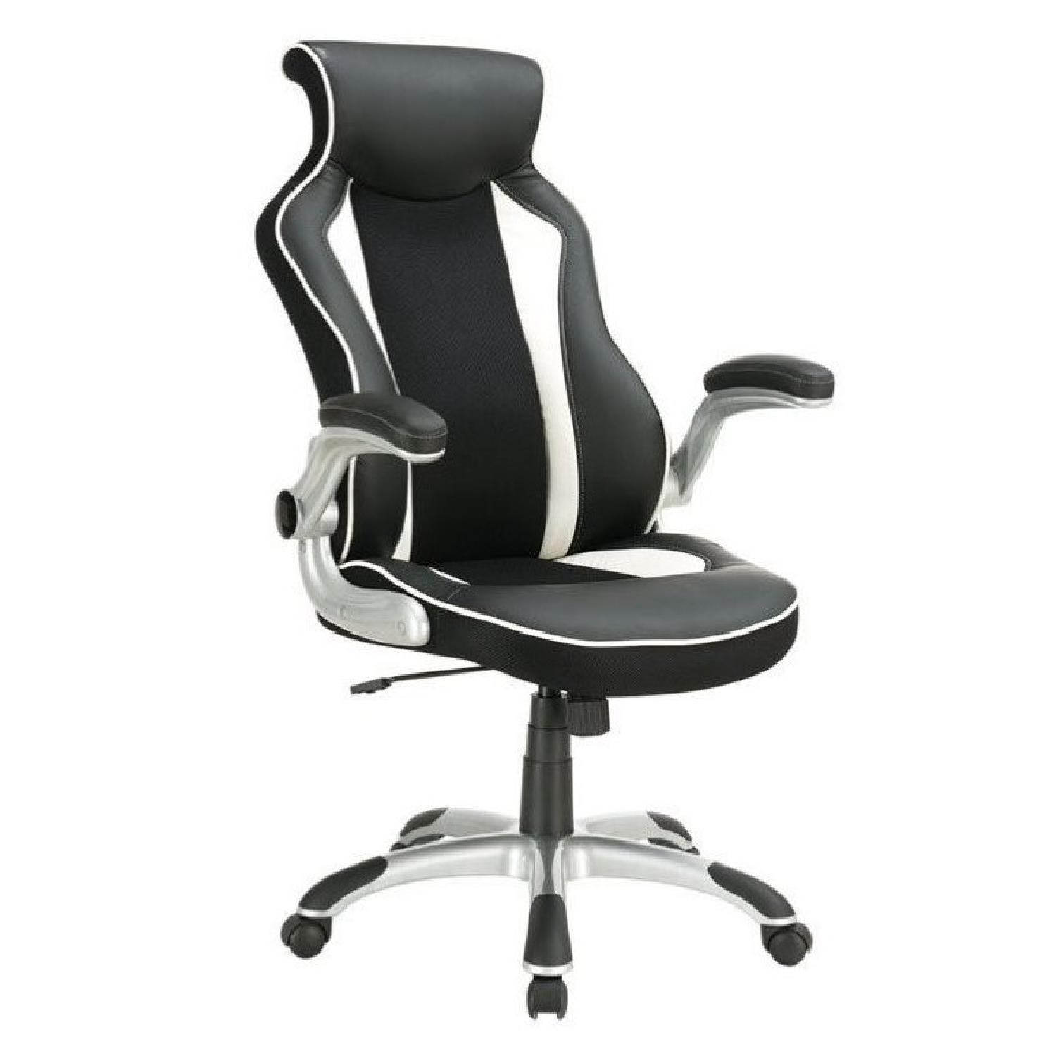 race car seat style modern ergonomic office chair in aptdeco. Black Bedroom Furniture Sets. Home Design Ideas