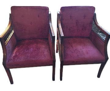 Antique Red Velvet Chairs