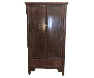 Asian Wooden Armoire Cabinet