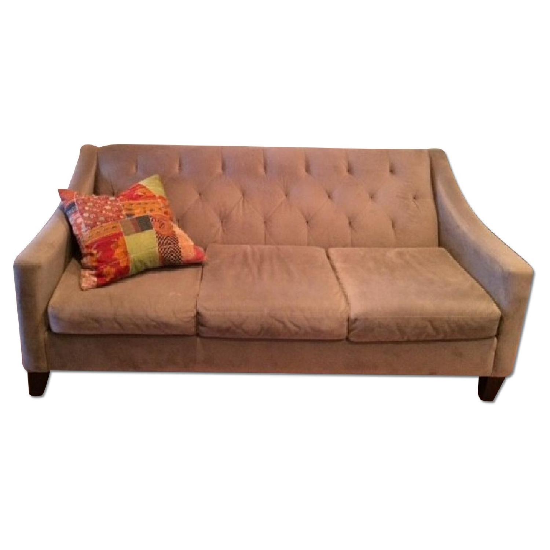 Macy's Tufted Velvet Grey Couch