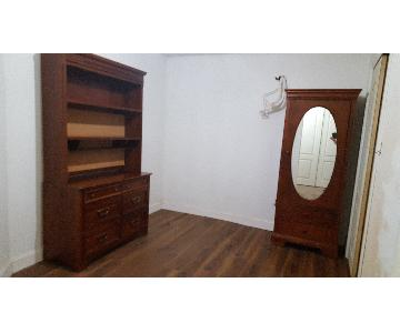 Stanley Furniture Armoire + Dresser w/ Hutch