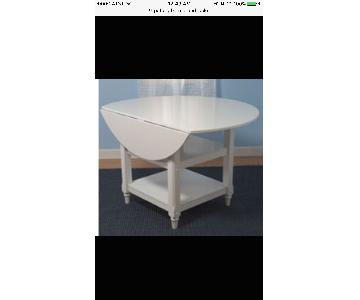 Pottery Barn Round Drop-Leaf Kitchen Table