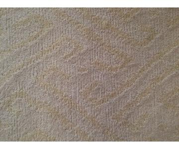 Neutral White & Light Yellow Wool Area Rug