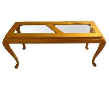Glass & Oak Sofa Table