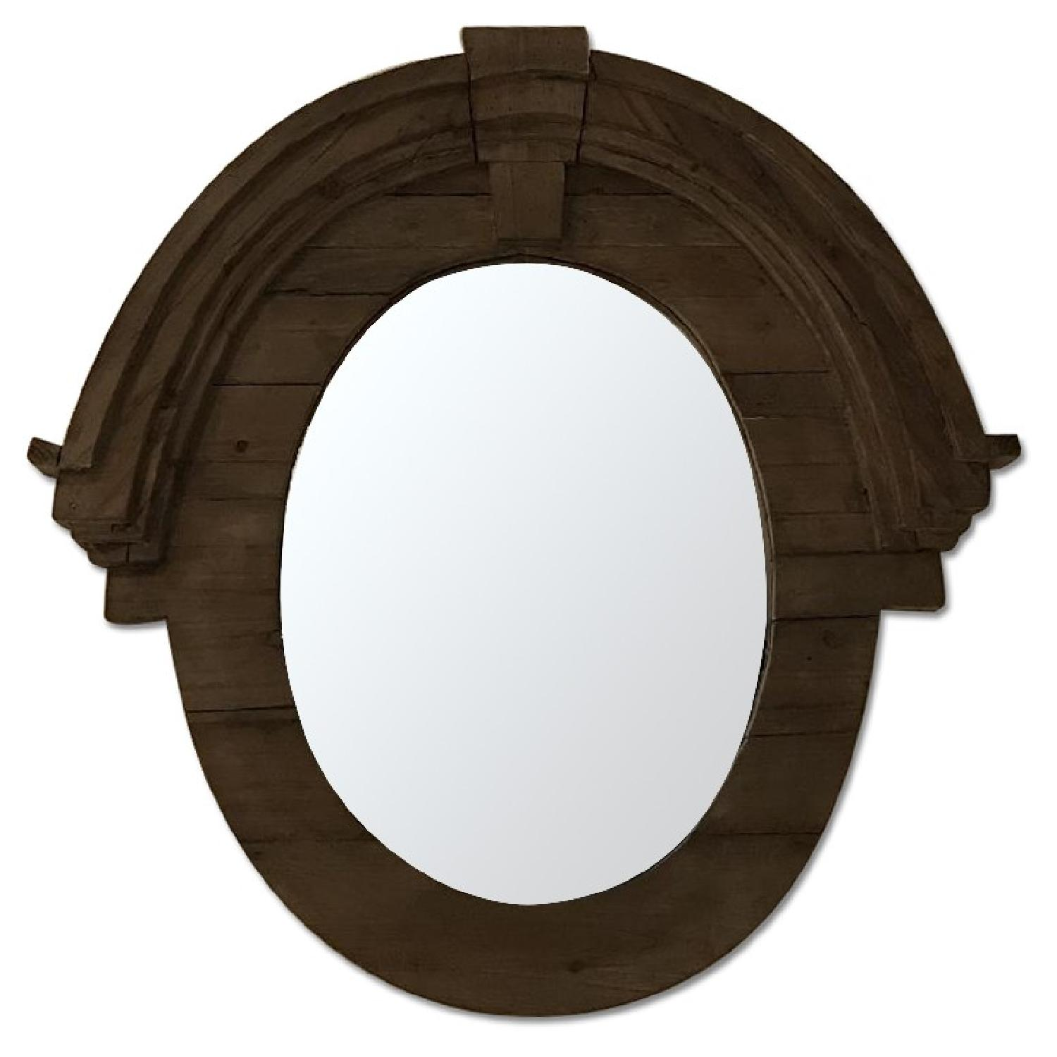 Salvaged Wood Arched Mirror