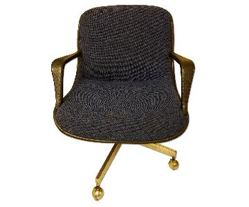 Blue Office/Conference Rolling Chair
