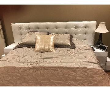 Milan Queen Size Bed Frame w/ Headboard