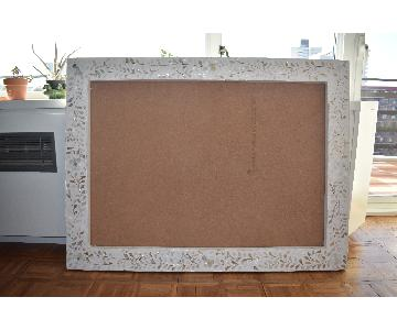 Large Handmade Mother Of Pearl Inlaid Mirror Frame