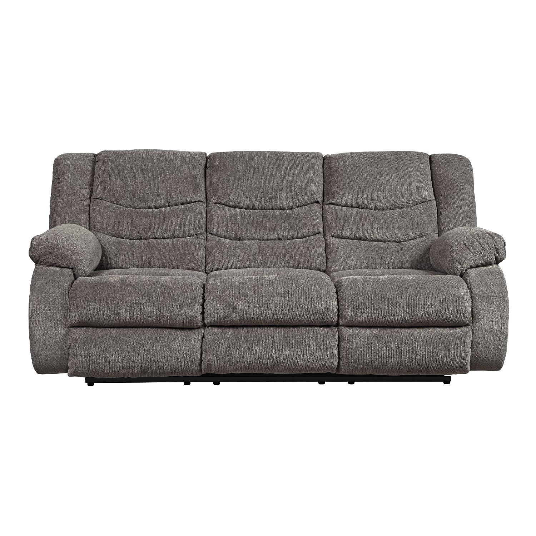 Ashleys Tulen Contemporary Reclining Sofa in Fabric AptDeco