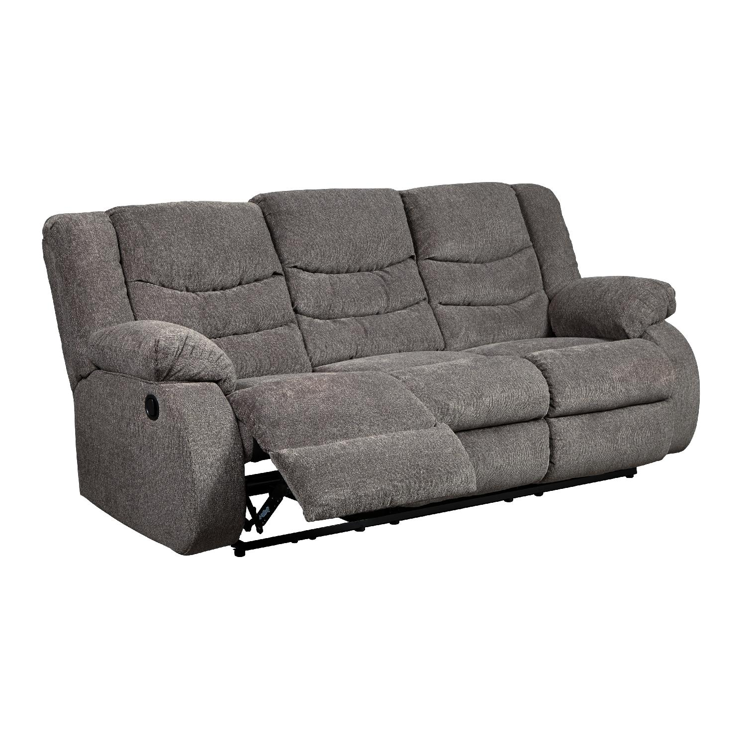 Ashley s Tulen Contemporary Reclining Sofa in Fabric AptDeco