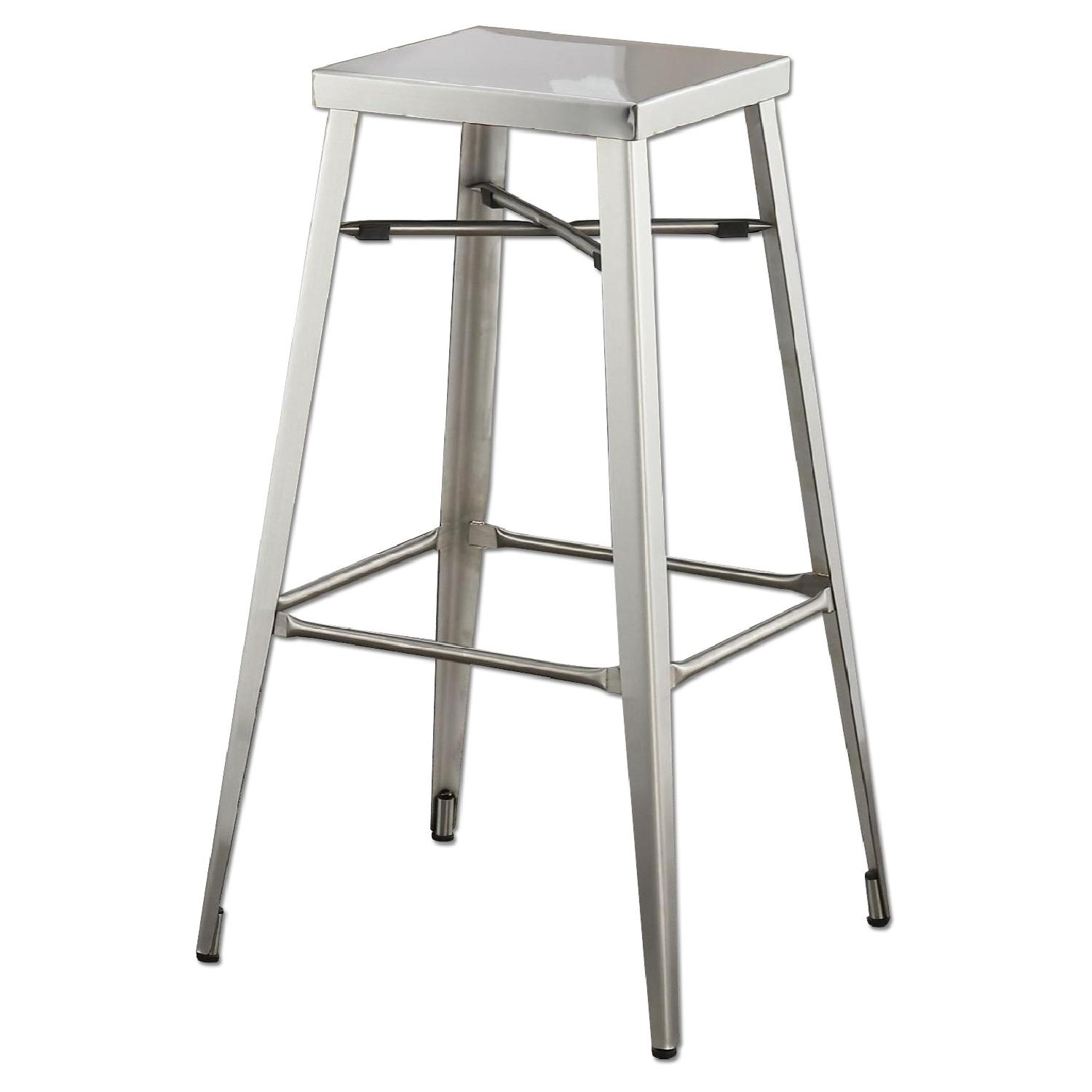Modern Stackable Stainless Steel Barstool
