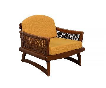 Adrian Pearsall Mid Century Modern Lounge Chair in Walnut w/