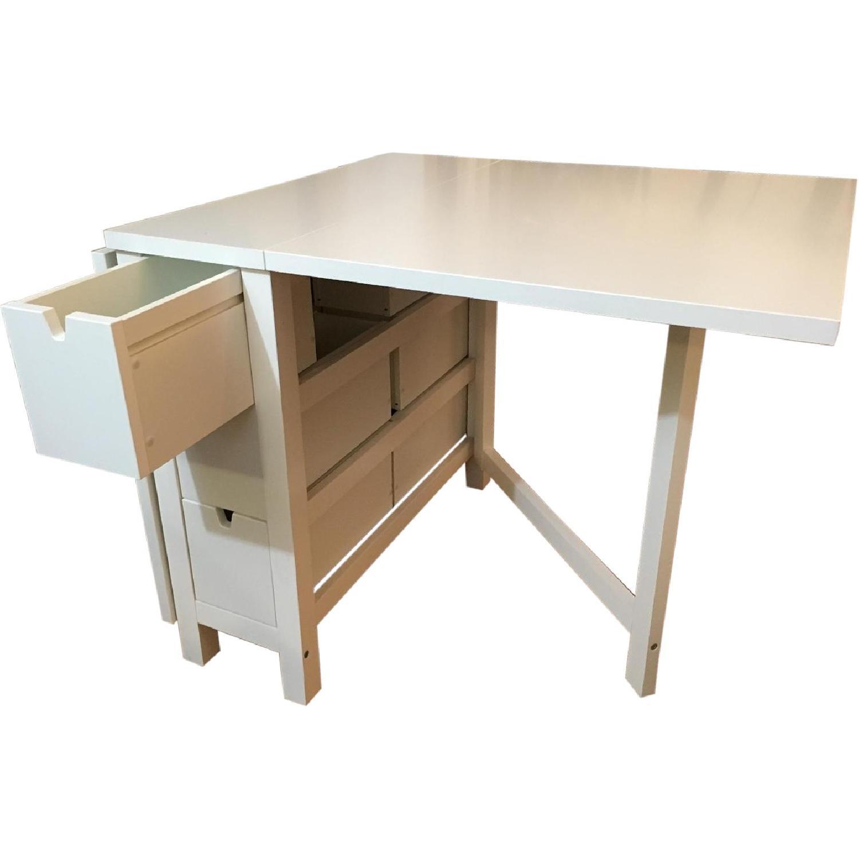 Ikea White Norden Gateleg Table Aptdeco